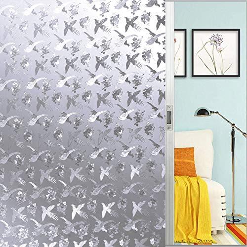 Raamfolie, esthetische verwarmende vliegende vogel statisch gematteerde sticker, ondoorzichtige glasdecoratie, zelfklevende uv-bescherming voor keuken, badkamer, woonkamer