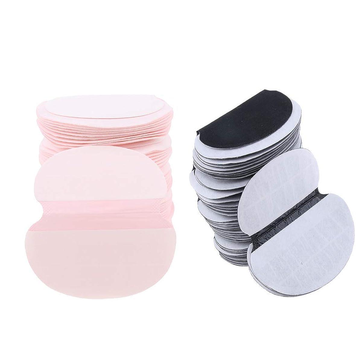 冷酷な小売適合するPerfeclan 約100個 脇汗パッド 脇の下ガード 使い捨て 男女用 あせジミ防止 ブラック ピンク