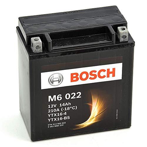 Bosch M6022 Batería motocicleta YTX16-4 /  YTX16-BS - 12V AGM 14A/h-220A