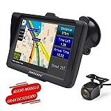 GPS para Coche de 7 Pulgadas con Bluetooth y Cámara Trasera, Gratis de Mapas de Europa Toda la Vida