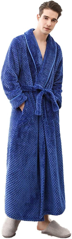 Damixi Coral Velvet Pajamas Robe, Unisex Kimono Ultra Long Soft Bathrobe