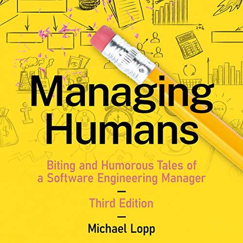 Diseño de la portada del título Managing Humans