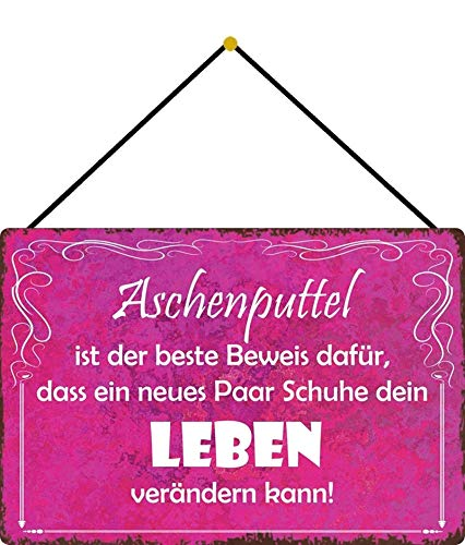 WOOOOL Cinderella is The Proof Novelty Retro Vintage Wall TinRetro Sign Wall TinQuote Art Poster for Home Café Bar Pub Decorations 20 x 30 cm