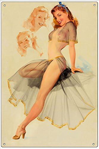 20x30cm Pin/'up Couture FEENOMENN Plaque M/étal D/éco Vintage