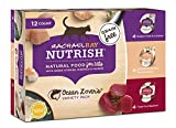 Rachael Ray Nutrish Grain Free Natural Wet Cat Food, Ocean Lovers Variety Pack, 2.8 Ounce Cup (12 Count)