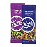 Kar's Nuts Variety Pack Trail Mix Snacks - Sweet 'N Salty Mix, Peanut Butter 'N Dark Chocolate Single Serve Bags (Pack of 24)