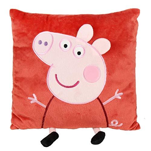 Peppa Pig COJIN con Aplicaciones, Rosa, 30x30 cm