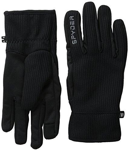 Spyder Herren Stryke Fleece Conduct Handschuhe, 017 Blk/Pol, S (222)