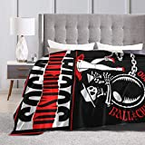 RobertDTesta Social Distortion Sofa Blanket, Light Travel Blanket, Comfortable Plush Warm Blanket, Super Soft Micro-Fleece Cartoon Blanket, Bedding