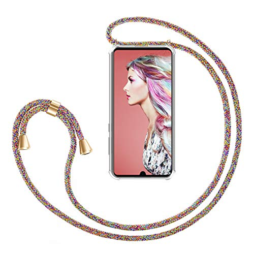 ZhinkArts Cadena para Teléfono Móvil Compatible con Huawei P30 - Funda con Collar de Cordón para Smartphone - Carcasa con...