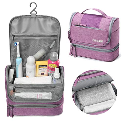 WYTartist Hanging Travel Toiletry Bag for Men and Women with Dry and Wet Separation 2...