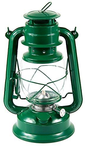 Petroleumlampe Petroleumlaterne Outddor Camping Petroleum Lampen 27 cm verschiedene Modelle (Grün)