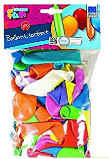 Stylex 2051199 Balloon Assorted Shapes 100 Pieces