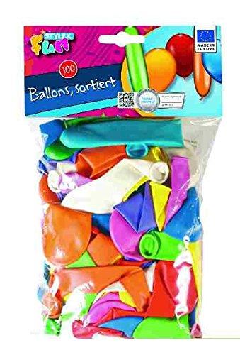 Stylex 14058 - Luftballons, verschiedenen Formen, 100 Stück