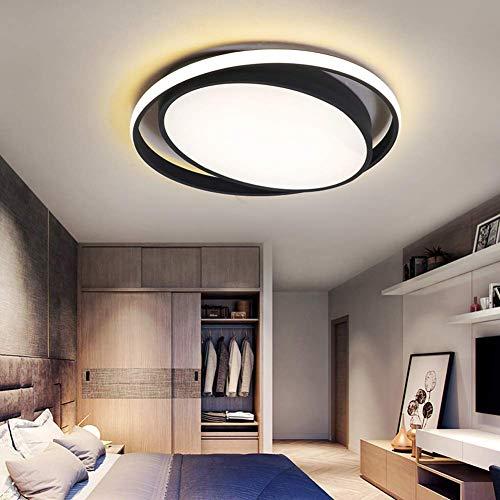 W-LI Deckenleuchte Moderne Deckenlampe aus Oval und Acryl Büro-Küchenzeile Balkonflur [Energieklasse a ++] 50 * H5,5 cm 49W
