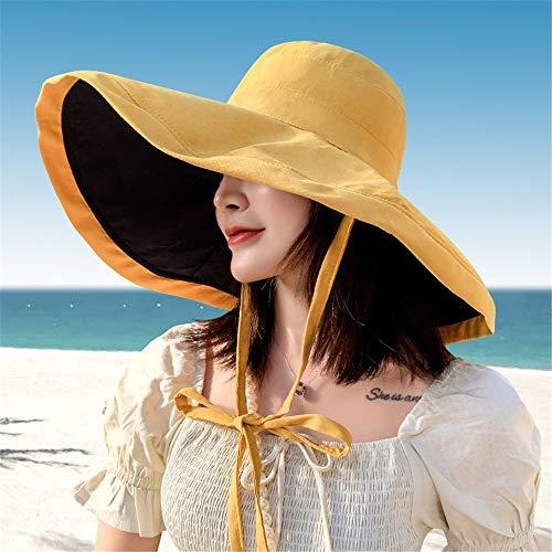 Fenshan223 2021 Nuevas Mujeres Sombrero Super SOPER Anterior Anterior Playa SOMBROS DE Playa DE DOXOS Side PLATABLE ANTILIVE ANTILIVE SOV SOB Hombre Panama Femenino PERSERO Sun Cable Bonnet