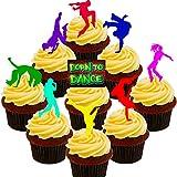 Made4You Born To Dance–Calle el Baile/Hip-Hop Comestible Cupcake Toppers–Pie oblea Decoraciones para Tartas, Pack of 36