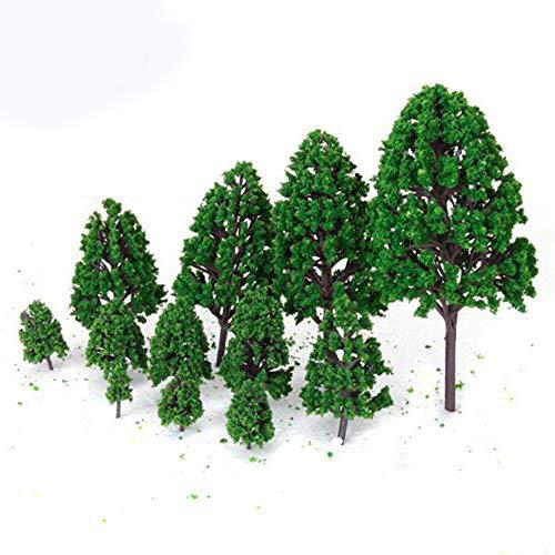Dicrey Model Trees Miniature Artificial Miniature Frosted Poplar for Architecture Landscape Scenery Decor Moss Bonsai Micro Landscape DIY Craft Garden Ornament Trains Railways Trees(24 Pack)