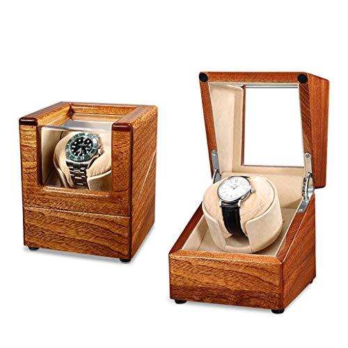 YZSHOUSE Single Cajas Giratorias for Relojes Automatico, Motor Silencioso Y 4 Programas De Rotación, Madera Bobinadora for Relojes (Color : D)