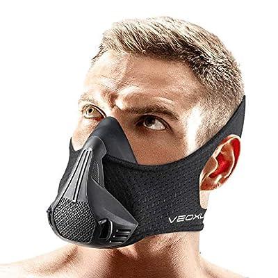 VEOXLINE Training Mask 2020 | 30 Breathing Resistance Levels - Sport Workout Running Biking Fitness Jogging Cardio Exercise for Men Women | Imitate Workout at High Altitudes (30 Levels)