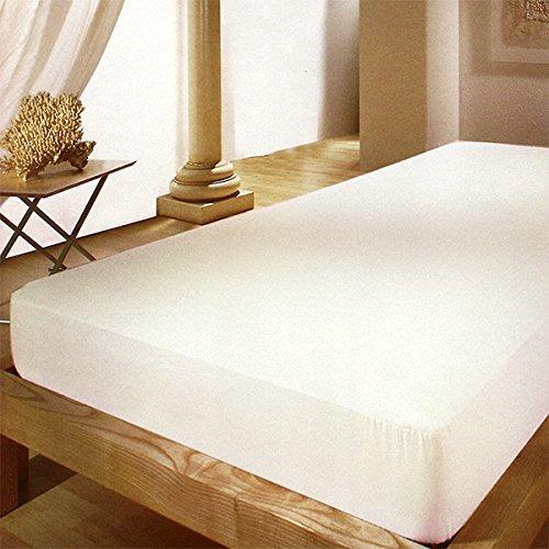 Dormisette Q32 molton hoeslaken, 150 tot 160/200 cm voor matrashoogtes tot ca. 23 cm hoog, ruw wit