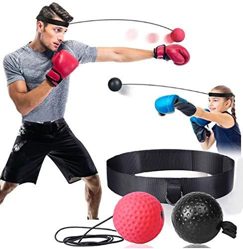 CXW Pelotas de boxeo para entrenamiento de velocidad de combate con diadema...