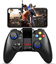 Mobile Game Controller, PowerLead PG8710 Gaming Controller Wireless 4.0 Gamepad Compatible with iOS Android iPhone iPad Samsung Galaxy (Black)
