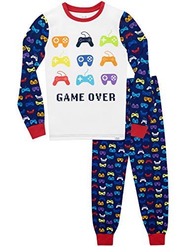 Harry Bear Boys Gaming Pyjamas Snuggle Fit Blue Age 10 to 11 Years