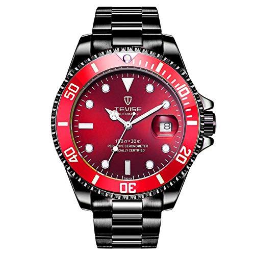 TEVISE T801 Hombres Reloj Mecánico Automático Reloj de Moda Luminoso Reloj 30 M Diario de Banda de Acero Impermeable Masculino Deporte de Ballylelly