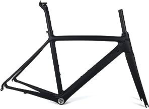 SmileTeam Ultralight Carbon Road Bike Frame T1000 Carbon Racing Bicycle Frameset BSA Matte 50/53/55cm