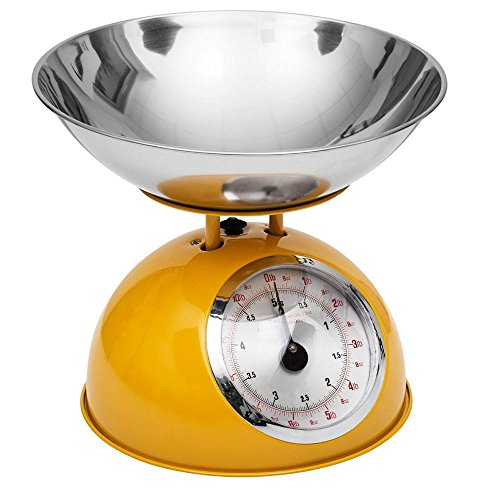 Balance de Cuisine rétro Jaune 5kg