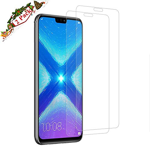 Etiie Honor 8X Screen Protector,Tempered Glass 9H Hardness] Ultra Slim] High Clear] Scratch-Resistant]Compatible with HONOR 8X ProtectorGlass Screen Protector 2 Packs UK