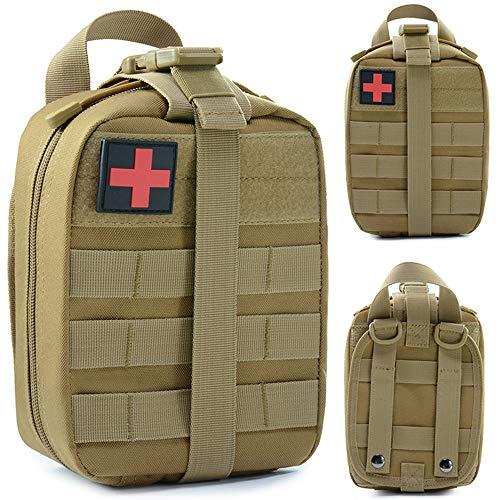 LEZED Taktische Erste Hilfe Medizinische Tasche EMT-Beutel Tactical Molle Erste Hilfe Beutel Medical-Beutel Notfalltasche Notfall Überlebenstasche Medikamententasche Tasche Pouch für Outdoor Camping