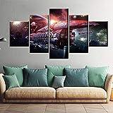 XHJY Decorativo Juego Eve Online Planet Spaceship Lienzo para Pared Cuadro Mural para Decoración del Hogar Lienzo Decorativo para Tu Salón O Dormitorio-150X80CM