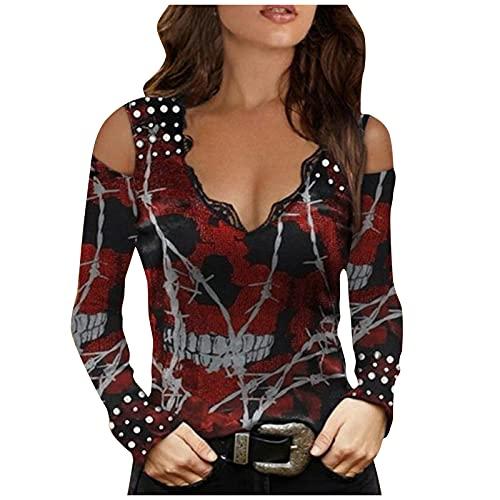 Damen Mode Spitze Strass Spleißen V-Ausschnitt Kurzarm T-Shirt Bluse Tops,Frauen Sexy V-Ausschnitt T-Shirt Elegant Sommer Bluse Spitze Spleißen Damen Kurzarm Oberteil Sommershirt Mode Slim Bluse