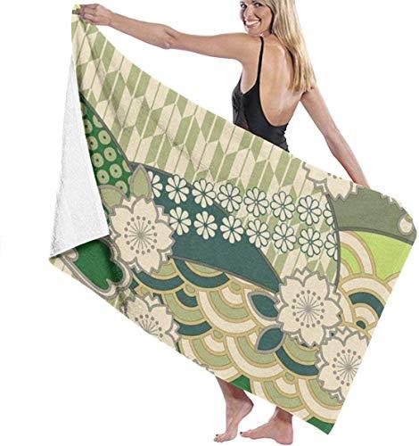 Ches Bademantel für Damen, Japanisches Muster, Weiß, Siehe Abbildung, Einheitsgröße