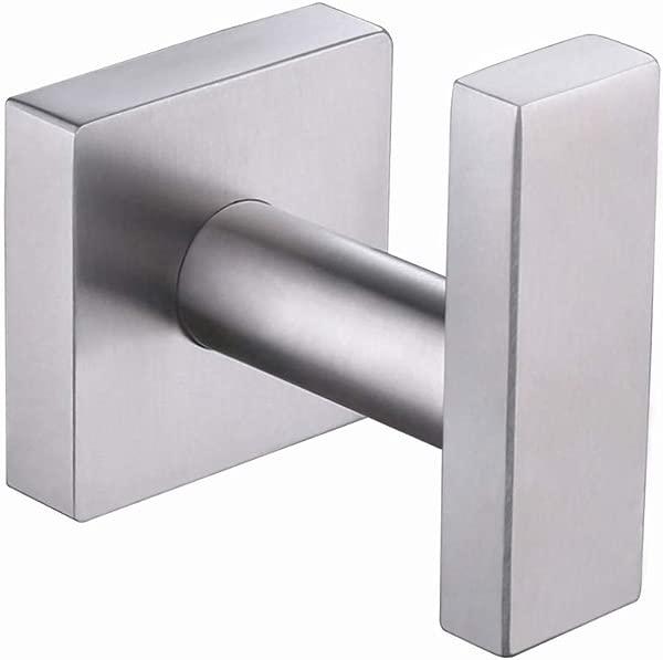 Robe Towel Hook Aomasi SUS304 Stainless Steel Coat Hook Modern Kitchen Toilet Bathroom Accessories Home Storage Holder Brushed Steel