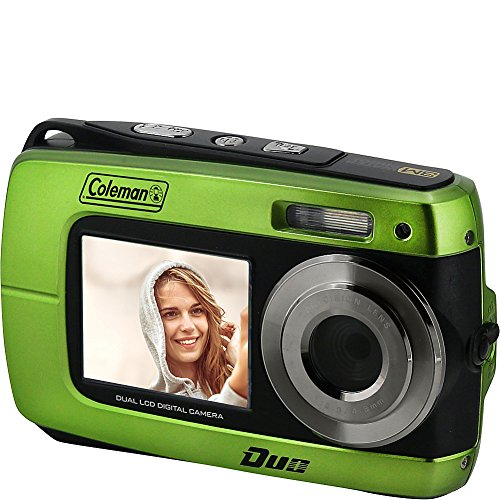 """Coleman Duo2 18.0 MP HD Underwater Digital & Video Camera (Waterproof to 10 ft.) with Dual LCD Screens, 2.7"""", Purple (2V8WP-P)"""