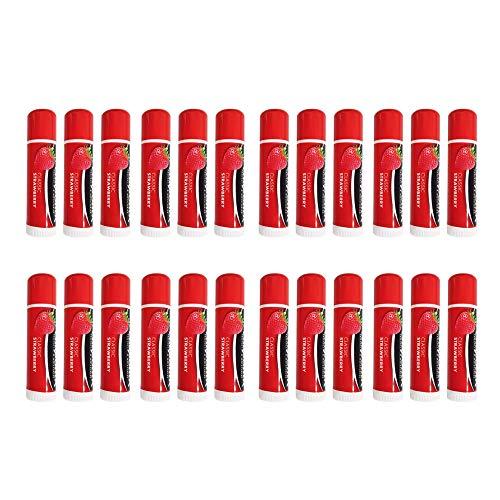 Chapstick Lip Balsamo de Fresa para Labios (Pack de 24)