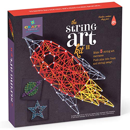 Craft-tastic  String Art Kit  Craft Kit Makes 3 Large String Art Canvases  Space Edition