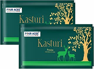 Four Aces Kasturi Premium Incense Sticks Zipper (Pack of 2) 240 GMS