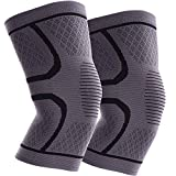 ITHW Knee Compression Sleeves for Women & Men for Meniscus Tear, Arthritis, ACL, MCL, Running, Working out, Gym, Injury...