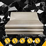 Faraday Fabric, EMF Protection Fabric, EMI, RF & RFID Shielding Nickel Copper Fabric, Cell, WiFi & Bluetooth Blocking/Military Grade Shielding Fabric, 43''x39'' (1 Meter 43''x39'')