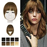 Clip in frangia, BARSDAR 100% Frontale Extension Hair Bang Clip in French Bangs Neat Bangs...