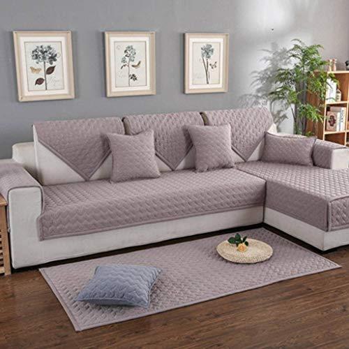 HOCOL Katoenen antislip bankovertrek, bankbeschermer mode vier seasons algemeen gewatteerde meubelsofahoes, voor woonkamer