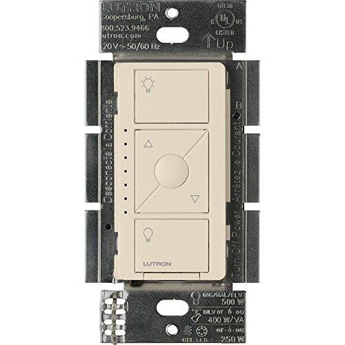 Lutron PD-5NE-LA ELV Caseta Wireless Electronic Low Voltage In-Wall Dimmer, Light Almond