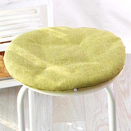 unknow Chair Cushion Linen Simple Solid Round Thin Section PP Cotton Filled Cushion Dining Chair Cushion Garden Stool Cushion 2 pecsc (No chair)