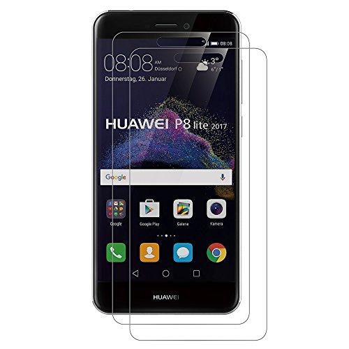 AICEK [2-Pack] Protector de Pantalla Huawei P8 Lite 2017, Cristal Templado para...