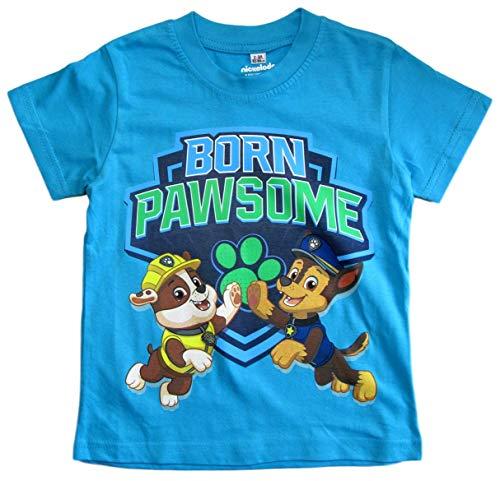 Paw Patrol - Helfer auf Vier Pfoten T-Shirt Jungen Kurz (Hellblau, 92-98)