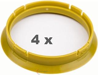 4 x Zentrierringe 72.5 auf 66.6 gelb/yellow